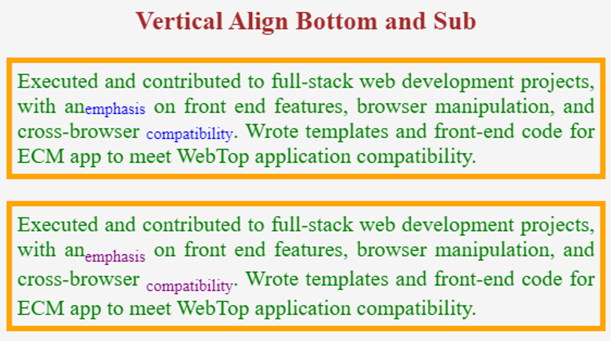 CSS vertical align -example 2