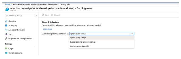 Cache setting is provided with the three different query