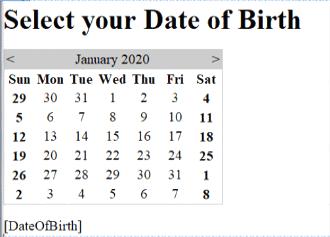 Calendar in ASP.NET - 1