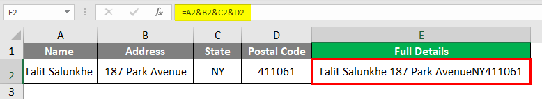 Insert Carriage Return in Excel 2-3