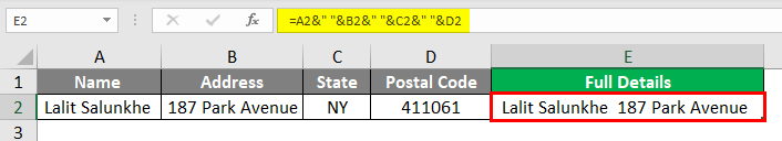 Insert Carriage Return in Excel 2-4