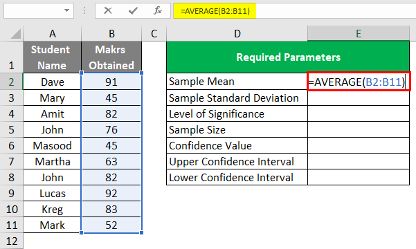 Confidence Interval in Excel 1-3