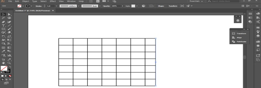 Create Table in Illustrator - 10