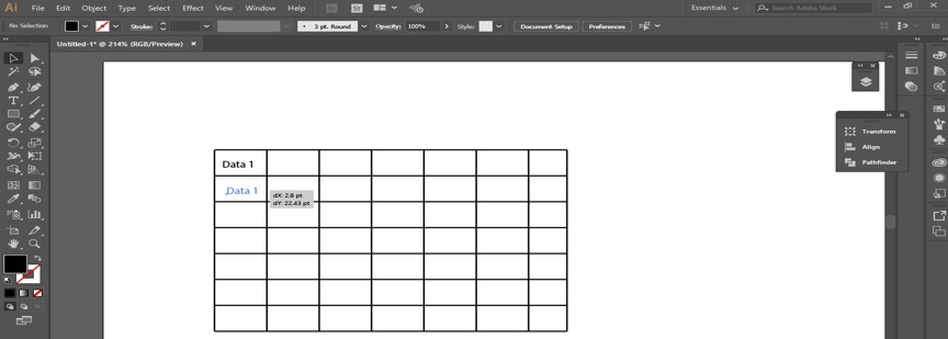 Create Table in Illustrator - 13