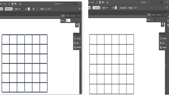 Create Table in Illustrator - 20