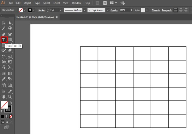 Create Table in Illustrator - 21