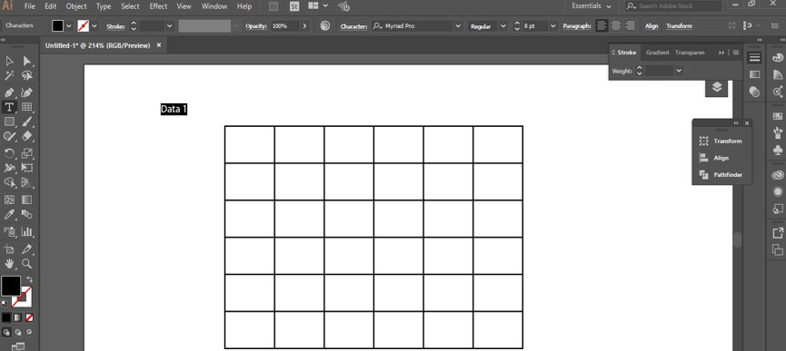 Create Table in Illustrator - 22