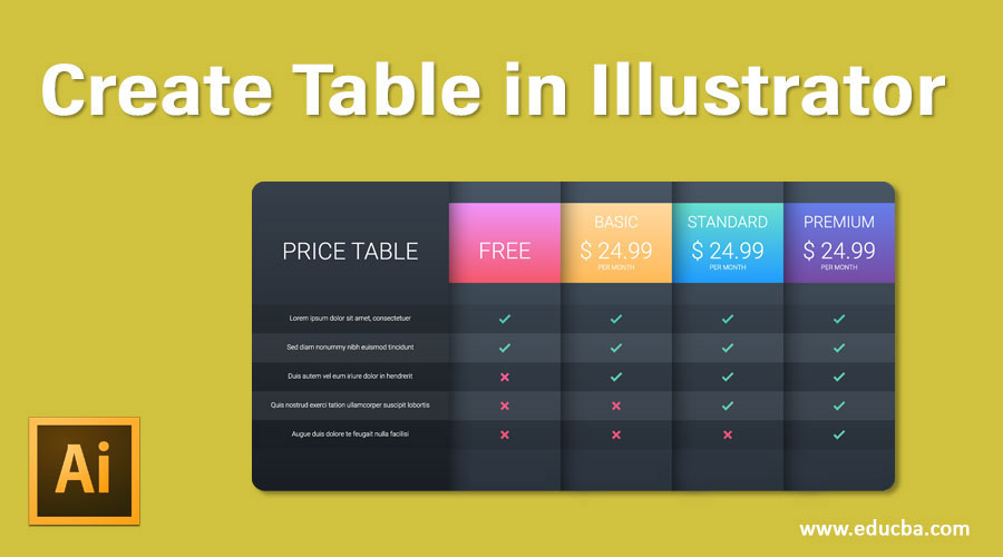 Create Table in Illustrator