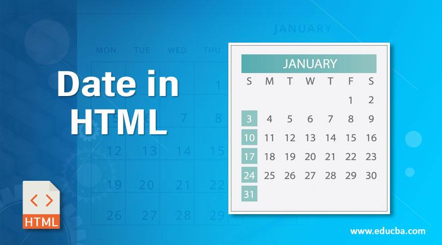 Date in HTML