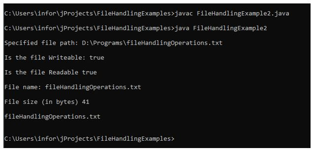 File handling in java 1