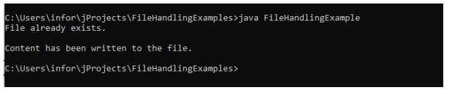 File handling in java 3
