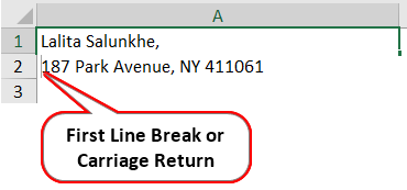 Carriage Return in Excel 3