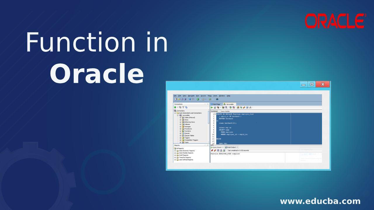 Function in Oracle