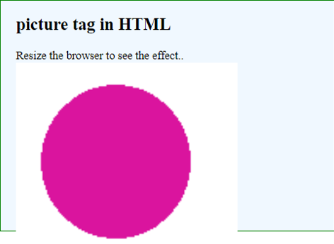 HTML Picture Tag Example 2