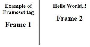 HTML frameset Tag 2
