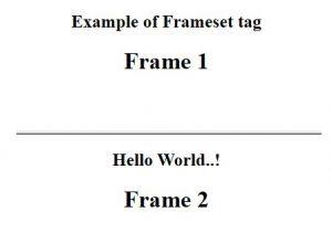 two horizontal frames
