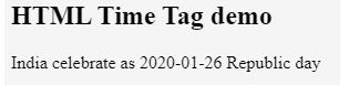 HTML time Tag 1