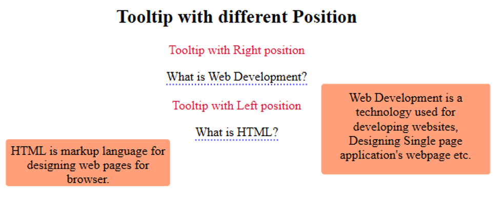 HTML tooltip- example1