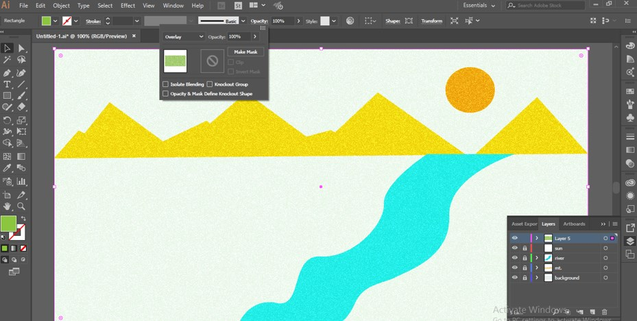 How to Add Texture in Illustrator -21
