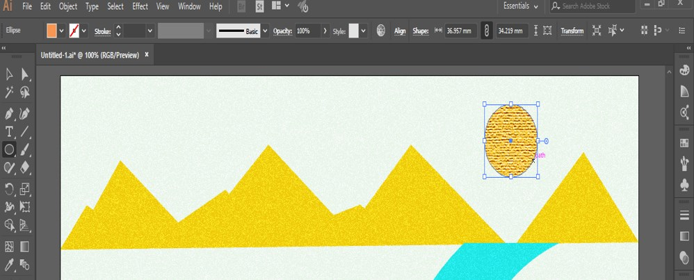 How to Add Texture in Illustrator -26
