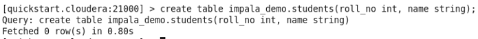 Impala Database command 2