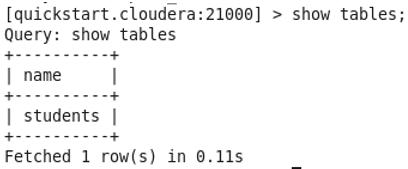 Impala Database command 5