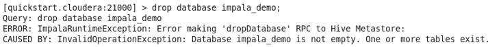 Impala Database command 6