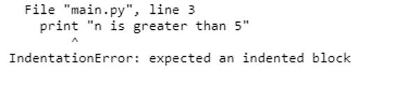 Indentation in Python-1.2