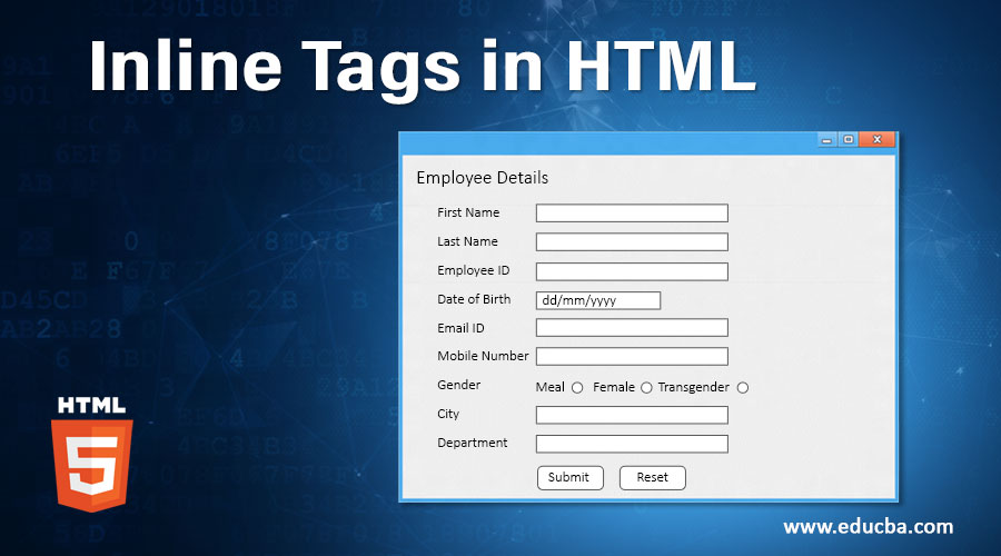 Inline Tags in HTML