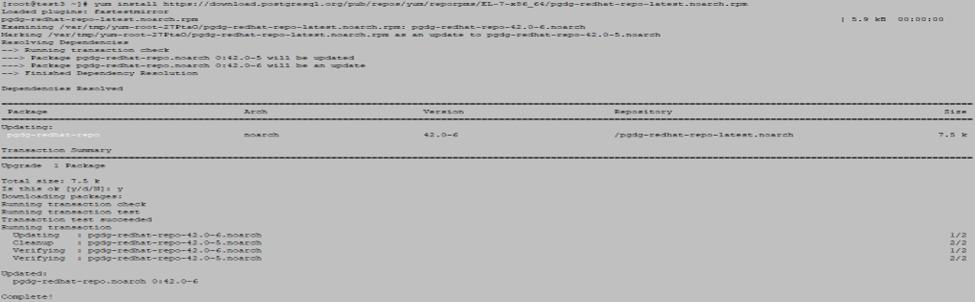 Install PostgreSQL - command