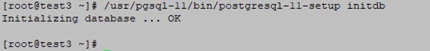 initialize database