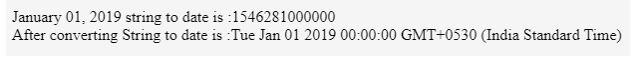 JavaScript Date parse 1