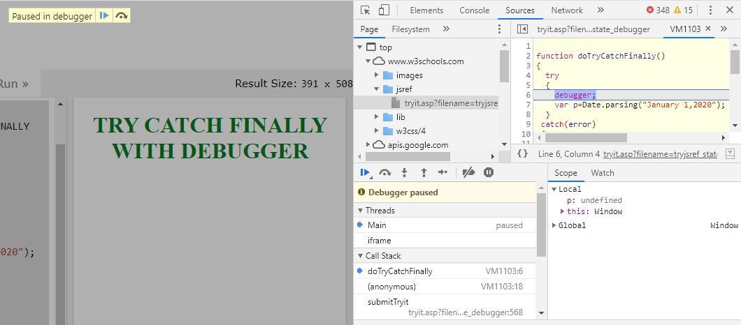 JavaScript Debugger 1-9
