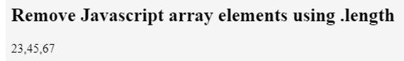 JavaScript Empty Array 1