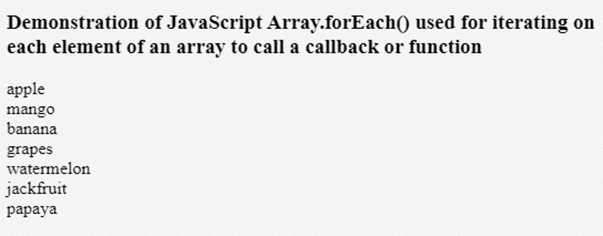JavaScript Iterate Array-1.1