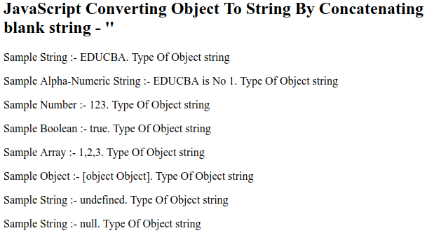 JavaScript Object to String - 1