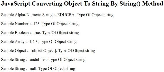 String()