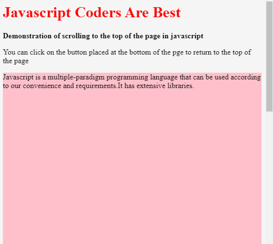 JavaScript Scroll to Top - 2