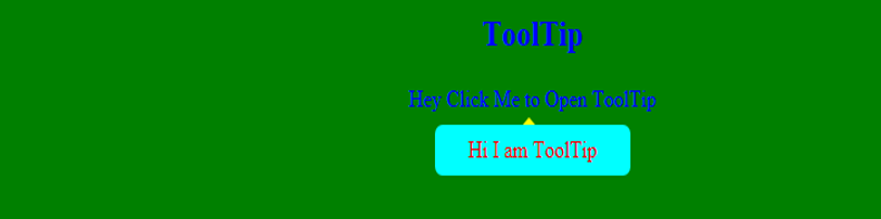 Javascript tooltip - Example1.1