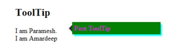 Javascript tooltip -example2