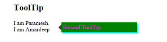 Javascript tooltip -example2.1