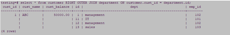 select * from customer
