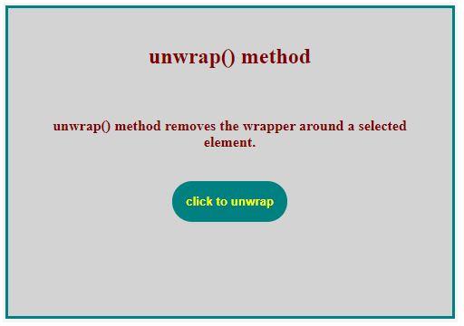 Jquery unwrap 1