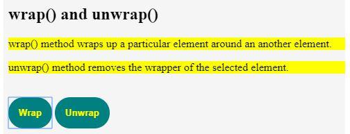 Jquery unwrap 8