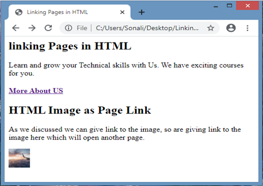Linking Pages in HTML output 2