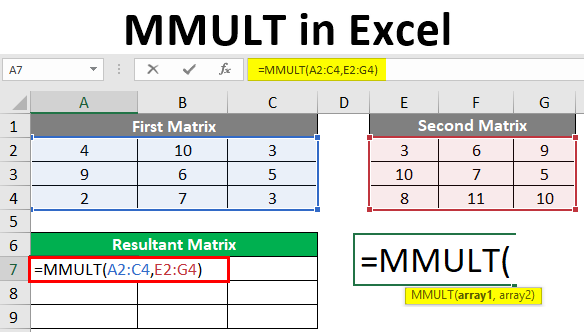 MMULT in Excel