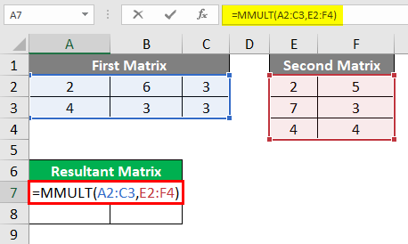 MMULT in excel 1-6