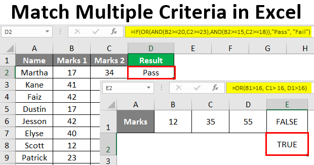 Match Multiple Criteria in Excel