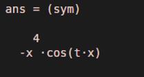 Using diff (f, var, n)