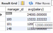 MySQL avg() output 3